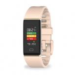 MyKronoz Smartwatch ZeTrack, Touch, Bluetooth 4.0, Android/iOS, Rosa- Resistente al Agua