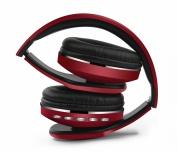 Naceb Technology Audífonos con Micrófono Cetus, Bluetooth, Inalámbrico, Rojo