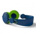 Naceb Audífonos con Micrófono Air, Alámbrico, 1.2 Metros, 3.5mm, Azul/Verde