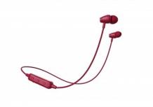 Naceb Audífonos Intrauriculares con Micrófono NA-0314, Inalámbrico, Bluetooth, Rojo