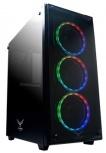 Gabinete Naceb Player con Ventana RGB, Full-Tower, ATX, USB 2.0/3.0, sin Fuente, Negro