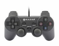 Naceb Gamepad NA-0917, PC, Alámbrico, Negro