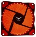 Ventilador Naceb NA-0919 LED Rojo, 120mm,1200 RPM, Negro