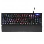 Teclado Gamer Naceb Black Cobra RGB, Teclado Mecánico, Alámbrico, Negro (Español)