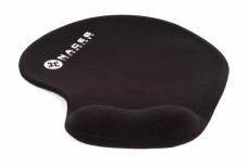 Mousepad Naceb con Descansa Muñecas de Gel NA-549NE, Negro