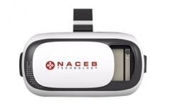 Lentes de Realidad Virtual Naceb NA-625, para Smartphone max. 6'', Blanco