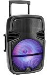 Necnon Bafle NB-12C, Bluetooth, Inalámbrico, 2500W PMPO, USB, Negro