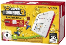 Nintendo 2DS, Blanco/Rojo - Incluye New Super Mario Bros 2