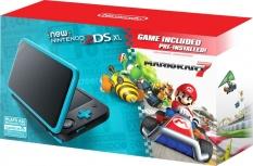 Consola Nintedo 2DS XL, Mario Kart 7, WiFi, Negro/Turquesa