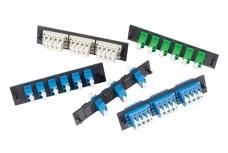 OCC Panel de 12 Adaptadores de Fibra Óptica LC Dúplex, Multimodo