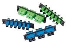 OCC Panel de 6 Adaptadores de Fibra Óptica SC Dúplex, Multimodo/Monomodo