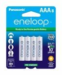 Panasonic Batería Recargable AAA, 1.2V, 8 Piezas
