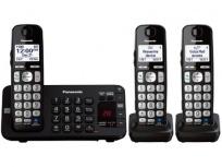 Panasonic Teléfono Inalámbrico DECT KX-TGE243B, 3 Auriculares, Altavoz, Negro