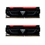 Kit Memoria RAM Patriot Viper RGB DDR4, 2400MHz, 16GB (2 x 8GB), Non-ECC, CL14, XMP, Negro