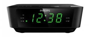 Philips Radio Despertador AJ3116M/37, FM, Negro