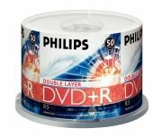 Philips Torre de Discos Virgenes para DVD, DVD+R, 16x, 4.7GB, 50 Piezas