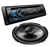 Pioneer Autoestéreo DXT-S4162BT, 200W, CD-R/MP3/USB/AUX, Bluetooth, Negro