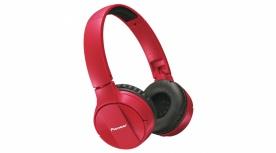 Pioneer Audífonos SE-MJ553BT, Bluetooth, Inalámbrico, Rojo