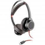 Poly Auriculares Blackwire 7225, Alámbrico, USB-C, Negro
