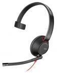 Plantronics Audifono Monoaural Blackwire C5210, Alámbrico, USB, Negro