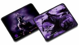 Mousepad Gamer Primus Arena Design, 39 x 31cm, Grosor 3mm, Negro/Morado