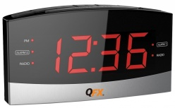 QFX Radio Despertador CR-32, AM/FM, Negro