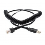 Qian Cable USB A Macho - RJ-50 Macho, 2.4 Metros, Negro