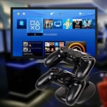 Redlemon Cargador para Controles DualShock 4, Negro, para PlayStation 4
