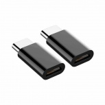 Redlemon Adaptador USB C Macho - Micro USB B Hembra, Negro, 2 Piezas
