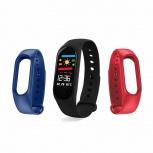 Redlemon Smartband 78781-RE, Touch, Bluetooth 4.0, Android/iOS, Negro, Resistente al Agua/Polvo - Incluye Correas Rojo/Azul