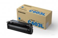 Toner Samsung CLT-C603L Alto Rendimiento Cyan, 10.000 Páginas