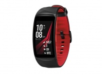 Samsung Smartwatch Gear Fit2, Touch, Bluetooth 4.2, Android/iOS, Negro/Rojo - Resistente al Agua