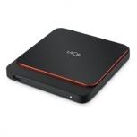 SSD Externo LaCie Portable SSD, 500GB, USB C 3.1, Negro/Naranja, para Mac/PC, 10 Piezas ― incluye Monitor V7 L185V-2MX