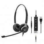 Sennheiser Audífonos SC 665 USB, Alámbrico, USB/3.5mm, Negro/Gris