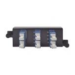 Siemon Panel de 6 Adaptadores de Fibra Óptica LC Dúplex, Azul