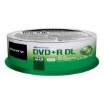 Sony Torre de Discos Virgenes, DVD+R DL, 8.5GB, 25 Piezas