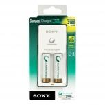Sony Kit Cargador para 1-2 Pilas AA o AAA + 2 Pilas AA