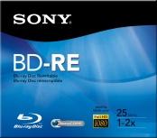 Sony Disco Virgen para Blu-Ray, BD-RE, 25GB (BNE25RH)