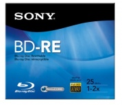 Sony Disco Vírgen para Blu-Ray, BD-RE, 2x, 25GB, 1 Disco