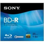 Sony Disco Virgen para Blu Ray, BD-R, 6x, 1 Disco (BNR25R3H)