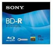 Sony Disco Virgen para Blu-Ray, BD-R, 6x, 25GB, 1 Disco