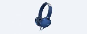 Sony Audífonos MDR-XB550AP, Alámbrico, 1.2 Metros, 3.5mm, Azul