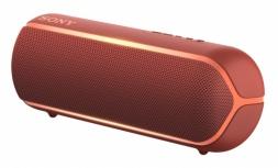 Sony Bocina Portátil XB22, Bluetooth, Inalámbrico, 2.0, USB 2.0, Rojo - Resistente al Agua