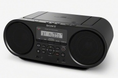 Sony Radiograbadora ZS-RS60BT, AM/FM, 4W, Bluetooth, MP3, Negro