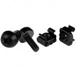 StarTech.com Paquete de 100 Tornillos y Tuercas Jaula Cage Nuts M5 x 12mm, Negro