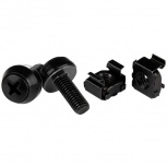 StarTech.com Paquete de 50 Tornillos y Tuercas Jaula Cage Nuts, M6 x 12mm, Negro