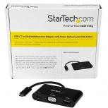 StarTech.com Adaptador USB 3.0 Macho - VGA Hembra, Negro