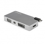 StarTech.com Adaptador de Video USB-C Macho - VGA/DVI/HDMI/mDP Hembra, Gris