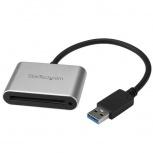 StarTech.com Lector y Grabador USB 3.0 de Memorias Flash CFast 2.0, 5000 Mbit/s, Negro/Plata