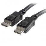 StarTech.com Cable con Cierre de Seguridad, DisplayPort Macho - DisplayPort Macho, 3 Metros, Negro